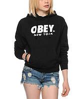 Худи женская с принтом Obey Font NYC Толстовка