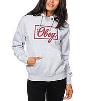 Худи женский с принтом OBEY logo Толстовка