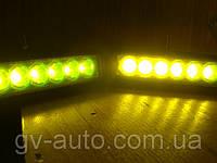 ПТФ светодиодные   LED 2218-18W-IP67  (желтые)