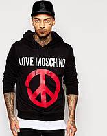 Худи мужская с принтом Love Moschino Hoodie With Peace | Толстовка