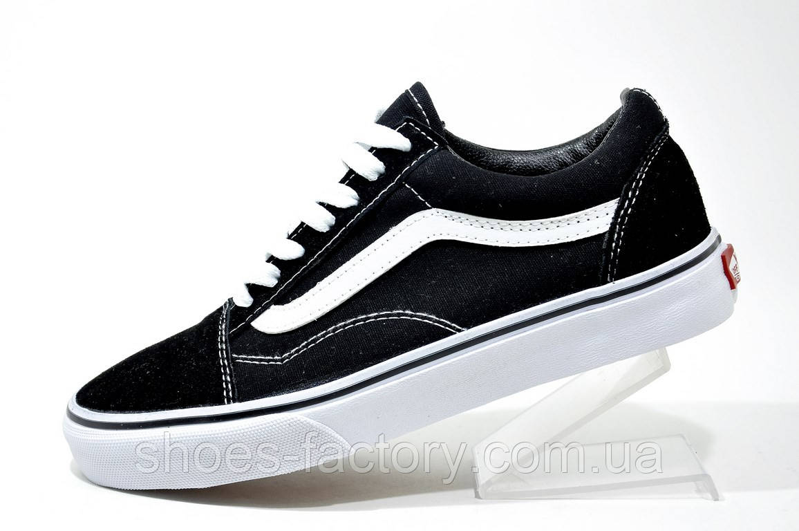Кроссовки унисекс в стиле Vans Old Skool, Black\White