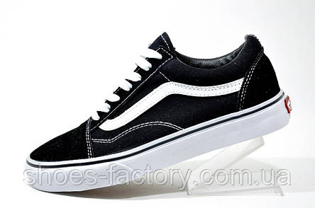 Кроссовки унисекс Vans Old Skool, Black\White, фото 2