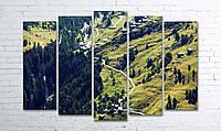 """Модульная картина на полотне """"Зеленые горы"""""""