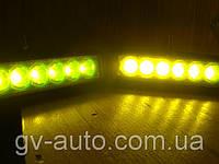 Стробоскопы светодиодные   2218 желтые, комплект 2шт.12В, фото 1