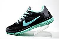 Кроссовки женские Nike Free Run 3.0, Black\Turquoise