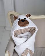 Конверт одеяло на выписку Мишка White