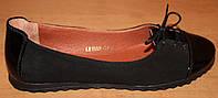 Балетки женские замшевые со шнуровкой, замшевые балетки женские от производителя модель ВБ1402-2