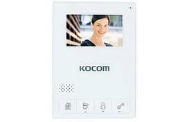 Цветной домофон KOCOM KCV-434SD white