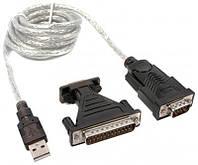 Кабель Viewcon VEN 09 USB1.1-COM (9+25pin), 1.5м, блистер