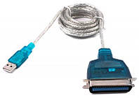 Кабель Viewcon VEN 12 USB1.1-LPT, 1.8м, блистер