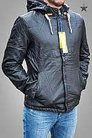 Кожаная мужская куртка, чёрная