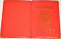 Обложка на паспорт Украины «Метеорит» цвет красный