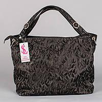 Объемная мягкая черная женская сумка 3D art. 1356-3D