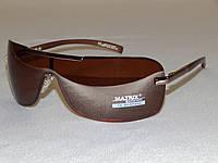 """Мужские солнцезащитные очки Matrix, коричневые """"маска"""" 780120, фото 1"""