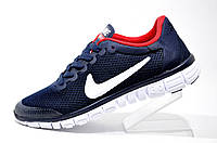 Кроссовки женские Nike Free Run 3.0, Dark Blue\Red\White