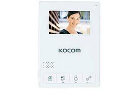 Цветной домофон KOCOM KCV-434 white