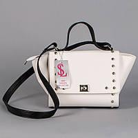 Белая матовая каркасная женская сумочка art. 1349wn3