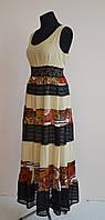 Красивое платье сарафан. Бежевый