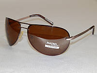 Мужские солнцезащитные очки Matrix капли коричневые 780123, фото 1