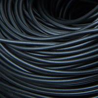 Шнур Резиновый Цельный, без отверстия, Цвет: Черный, Размер: Толщина 3мм, около 160м/связка, (УТ100005660)