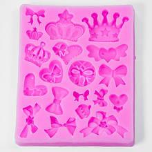 Силиконовая форма, Корона, Цвет: Розовый, Размер: 90x75x10мм, (УТ100005844)