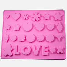 Силиконовая форма, LOVE, Цвет: Розовый, Размер: 250x200x10мм, (УТ100005843)