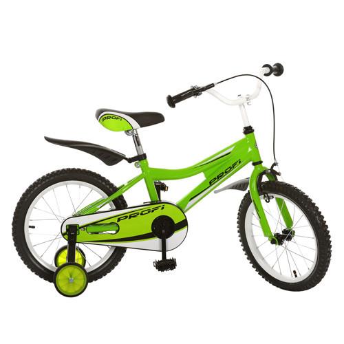 Детский двухколесный велосипед Profi 16 дюймов 16BA494-3 салатовый
