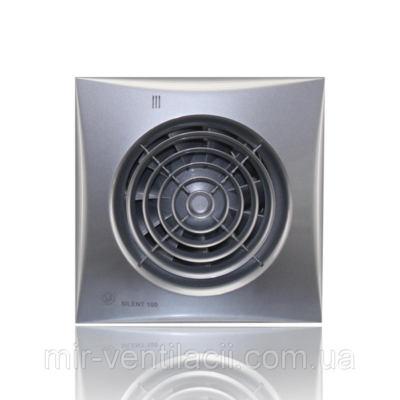 Вентилятор осевой Silent 200 cz Silver бесшумный