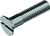 Винт  DIN 963 — винт с потайной головкой с прямым шлицем и полной резьбой