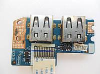 Плата USB Acer E442 5552 5736 5252 5733 5742 5741 5250 LS-6581P  PEW71 PEW81 PEW91 PEW72 PEW82
