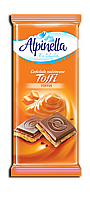 "Шоколад Alpinella Toffi ""Milk Chocolate With Toffee Filling"" (Тоффі) - 100 г."