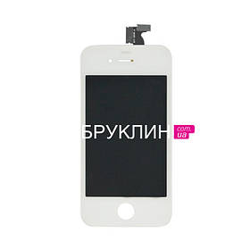 Дисплей для мобильного телефона Iphone 4, белый, с тачскрином / Экран для Айфон 4 белого цвета