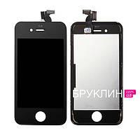Дисплей для мобильного телефона Iphone 4, черный, с тачскрином / Экран для Айфон 4, черного цвета