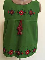 Сукня сарафан вишита для дівчинки домоткане полотно на 3-4 роки