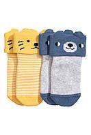 Махровые носочки для мальчика (2 пары)  0-3 месяца