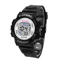 Наручные електронные спортивные часы WA30M черные