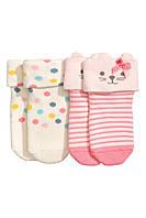 Махровые носочки для девочки (2 пары), 0-1, 0-3, 3-6 месяцев