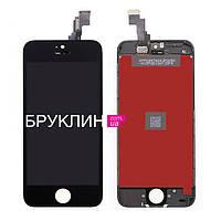 Дисплей для мобильного телефона Iphone 5s, черный, с тачскрином / Экран для Айфон 5 s, черного цвета