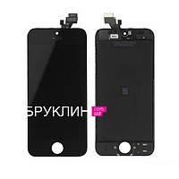 Оригинальный дисплей для мобильного телефона Iphone 5, черный, с тачскрином / Экран для Айфон 5, оригинал