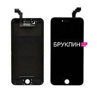 Дисплей для мобильного телефона Iphone 6+, черный, с тачскрином / Экран для Айфон 6+, черного цвета