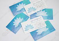 Изготовление визиток с глянцевой ламинацией
