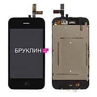 Сенсорный экран для мобильного телефона Apple Iphone 3Gs, черный / Экран для Айфон 3 Gs, черного цвета