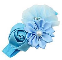 Украшение повязка на голову ребенка цветы, фото 1