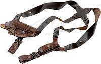 Кобура плечевая универсальная Baltes 009 для пистолета ПМ с 2-мя наплечниками и чехлом для магазина