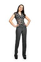 Женские брюки  молодежные (110 модель, костюмка) Серая