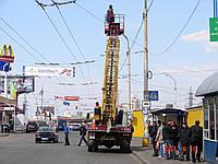 Аренда гидроподъемника Услуги автогидроподъемника в Киеве и пригороде Аренда автовышек