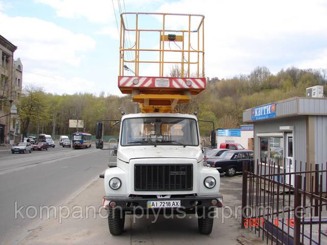 Аренда гидроподъемника. Услуги автогидроподъемника в Киеве и пригороде. Аренда автовышек.