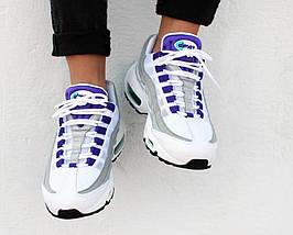 Мужские кроссовки Nike Air Max 95 Premium OG White/Court Purple, фото 3