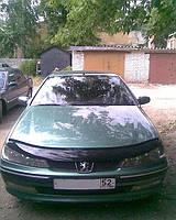 Дефлектор капота (мухобойка) Peugeot 406 1995-1999