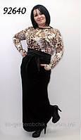 Платье женское длинное масло больших размеров, фото 1